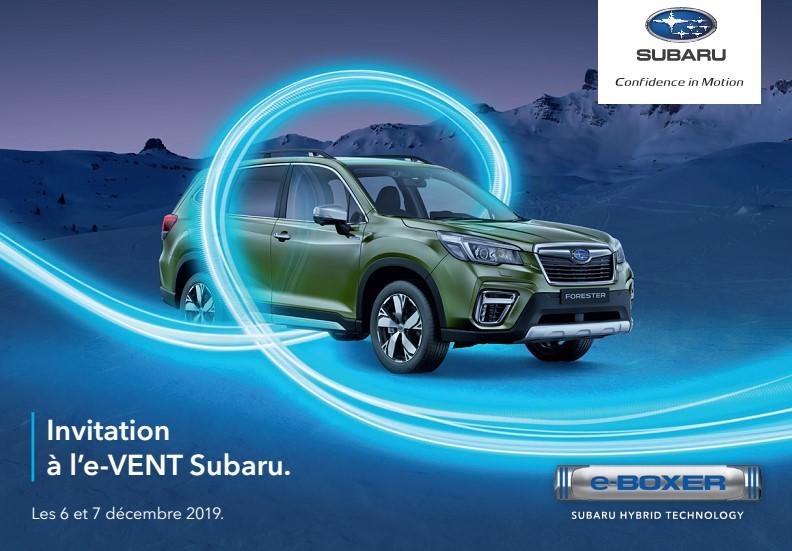 Invitation à l'e-VENT Subaru